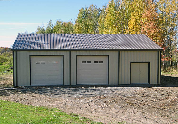 Garage kits olympia steel buildings of canada for Prefab garage california