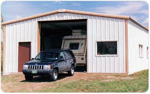 Prefabricated steel building kits olympia steel for Garage building kits canada