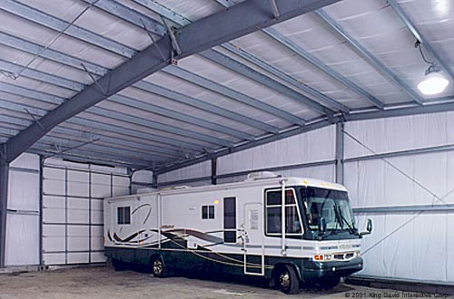 Garages olympia steel buildings for Rv garage kits