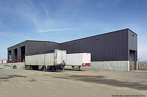 Garages For Trailers : Truck garages olympia steel buildings of canada