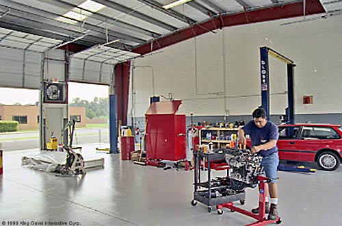 Small shops workshops for Small motor repair shop