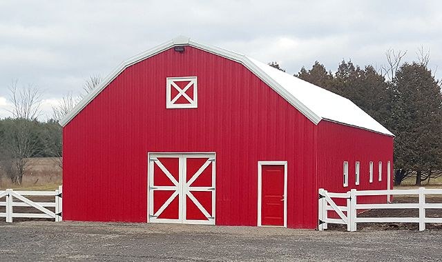 Workshop in dunrobin ontario olympia steel buildings for Pole barns ontario